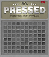 80 Free Photoshop Pressed Styles by designercow