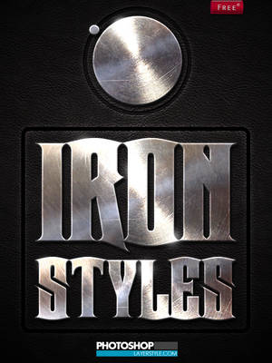 Free Iron Photoshop Styles by designercow