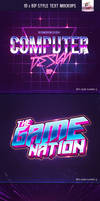 80's Style Text Mockups