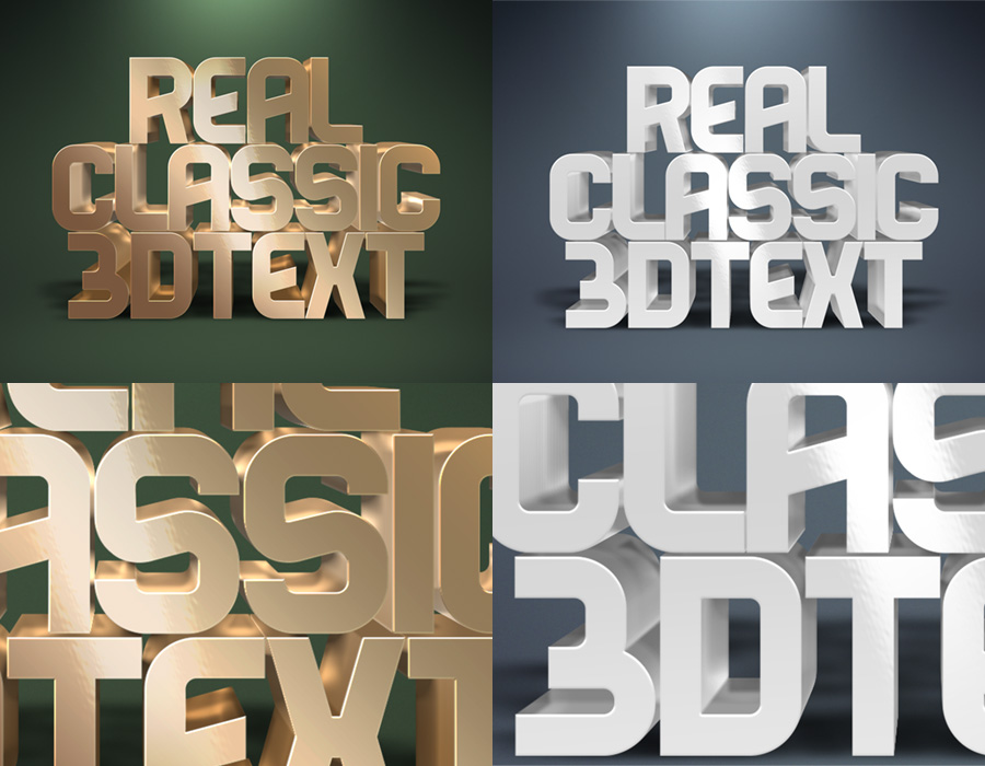 Real 3D Text Mockups by designercow