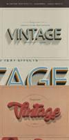 New Vintage Retro Text Styles