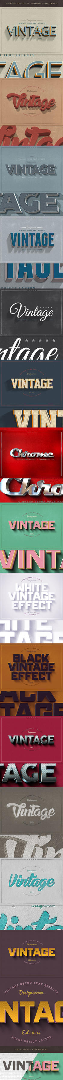 New Vintage Retro Text Styles by designercow