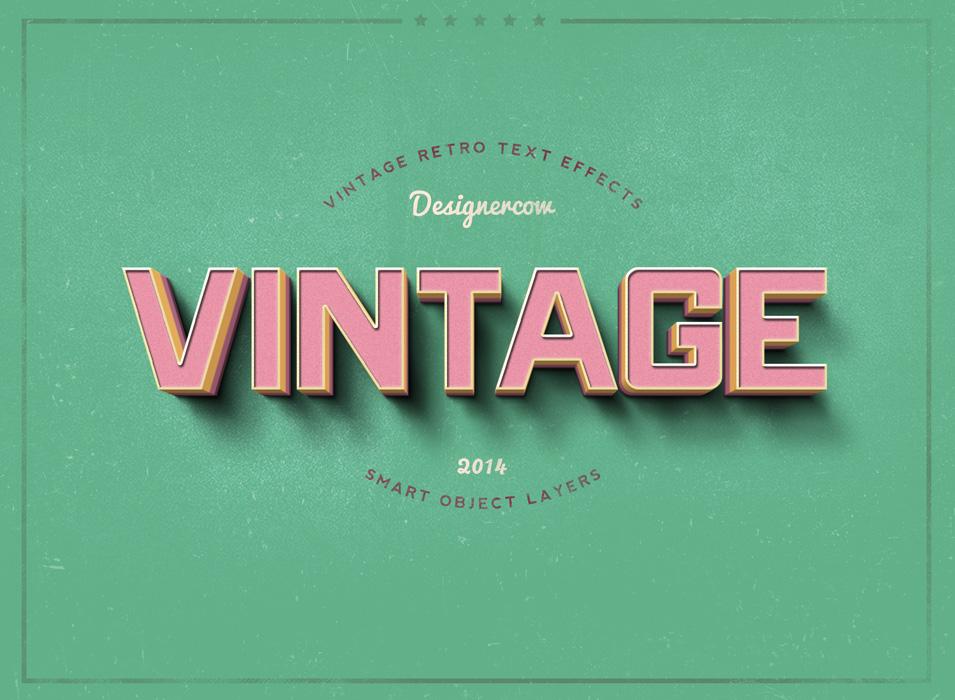 Vintage Retro mockup by designercow