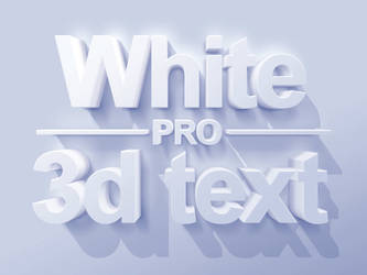 Pro 3D text styles Mockups by designercow