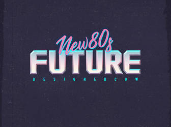 80's Text Effect V3 08 by designercow