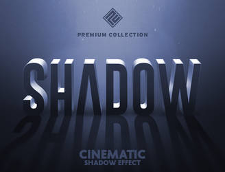 Cinematic 3D Shadow Text Effect by designercow