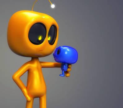 Zbrush Doodle Day 976 - Robot Kid Version 40