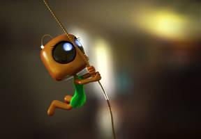 Zbrush Doodle Day 979 - Robot Kid Version 41 Swing
