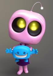 Zbrush Doodle Day 1005 - Robot Kid Version 42