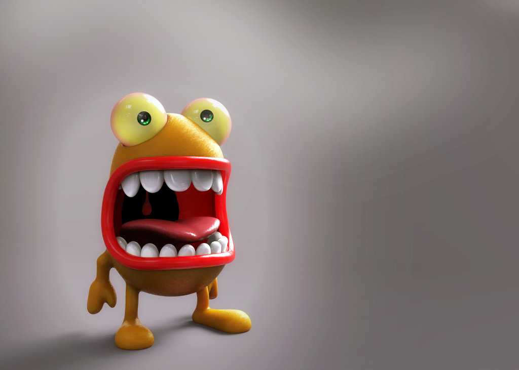 Zbrush Doodle Day 1046 - Loud Critter by UnexpectedToy