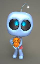 Zbrush Doodle: Day 1105 - Robot Kid Version 46