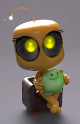 Zbrush Doodle: Day 1107 - Robot Kid Version 47