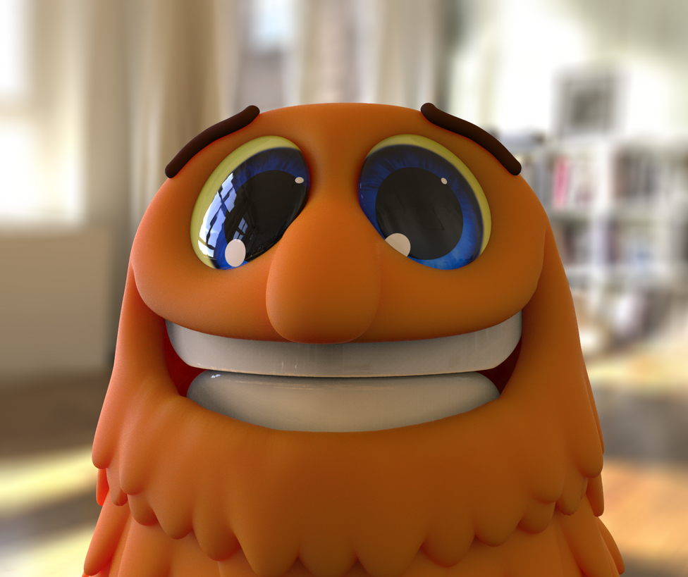 Zbrush Doodle: Day 1120 - Orange Guy Selfie by UnexpectedToy