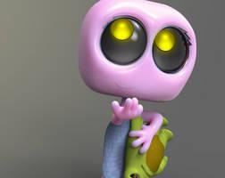 Zbrush Doodle: Day 1131 - Robot Kid Version 50