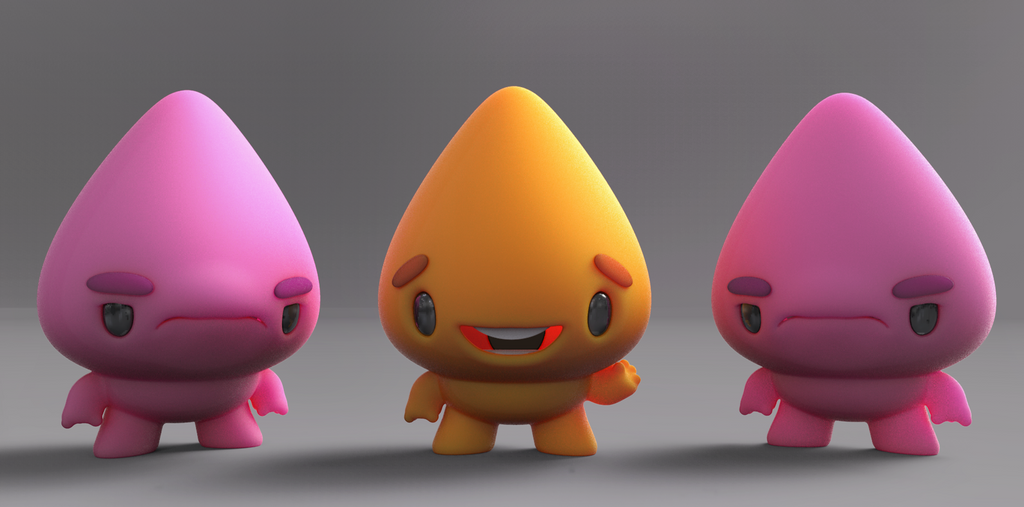 Zbrush Doodle: Day 1205 - Friendly And Grumpy by UnexpectedToy