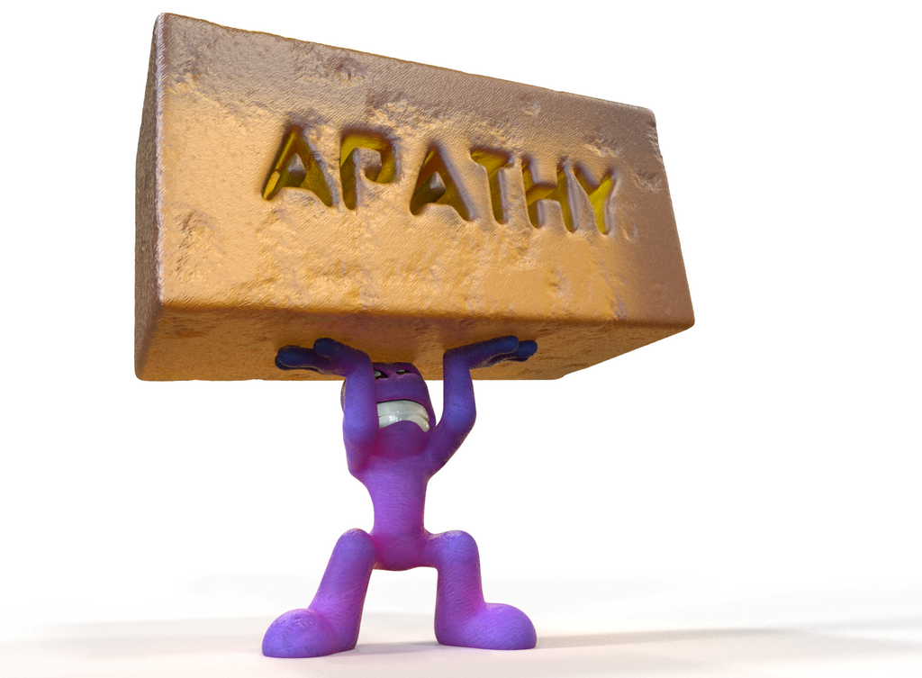 Zbrush Doodle: Day 1229 - Apathy by UnexpectedToy