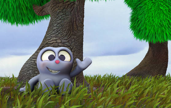 Zbrush Doodle: Day 1310 - Sitting under a tree