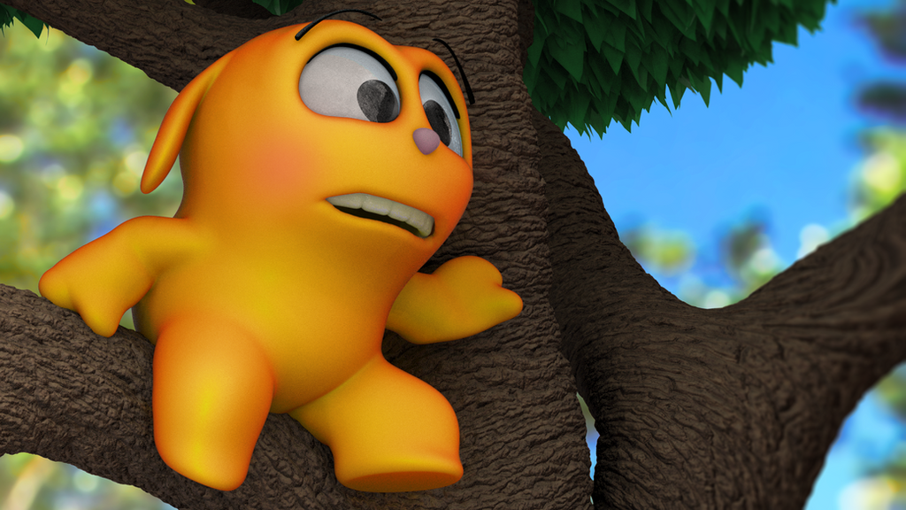 Zbrush Doodle: Day 1325 - Tree Sitting by UnexpectedToy