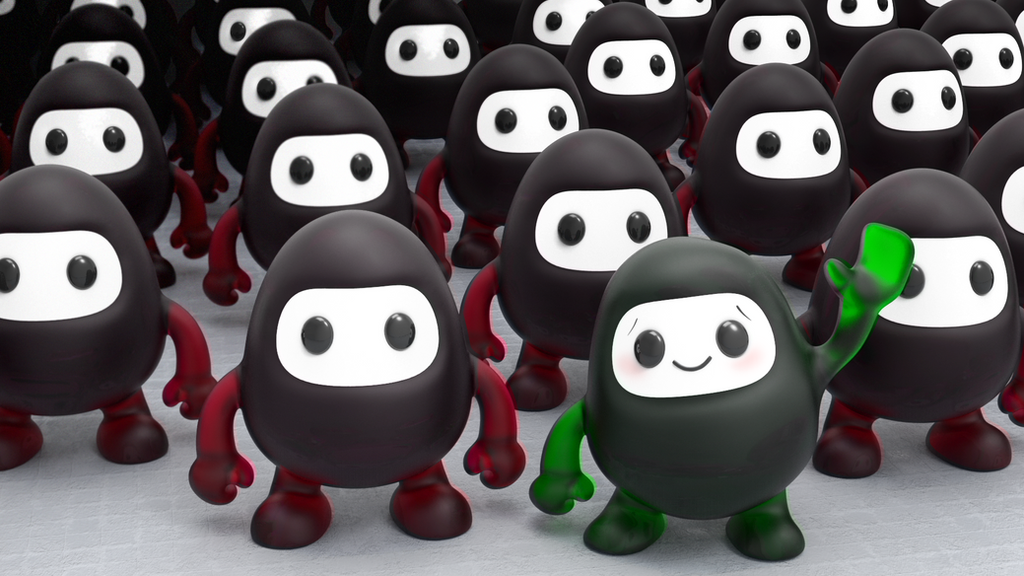Zbrush Doodle: Day 1329 - The Friendly One by UnexpectedToy