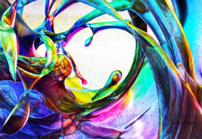 Zbrush Doodle: Day 1580 - Waves of color by UnexpectedToy