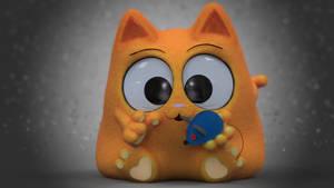 Zbrush Doodle: Day 1734 - Smooshy Cat
