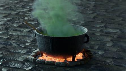 Zbrush Doodle: Day 1754 - The cauldron