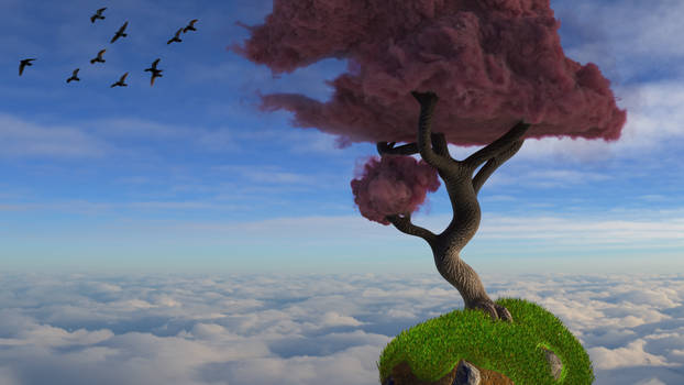 Zbrush Doodle: Day 2090 - Cloud Tree