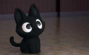Zbrush Doodle: Day 2105 - Black Kitty