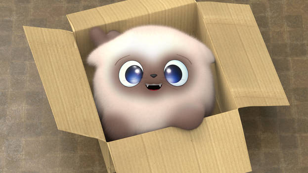 Zbrush Doodle: Day 2142 - Kitty in a Box