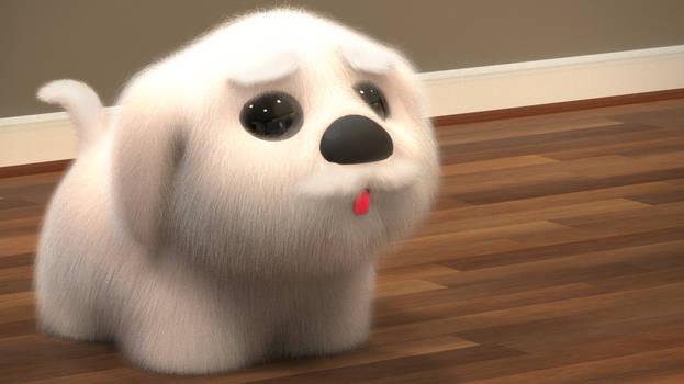Zbrush Doodle: Day 2154 - Fluffy White Dog