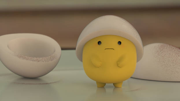 Zbrush Doodle: Day 2176 - Reluctant Egg