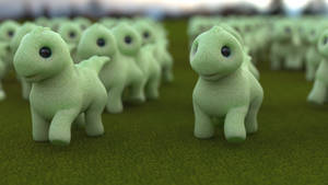 Zbrush Doodle: Day 2179 - Dino Herd