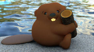 Zbrush Doodle: Day 2221 - Beaver and Log
