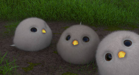 Zbrush Doodle: Day 2299 - Fluffy Birds