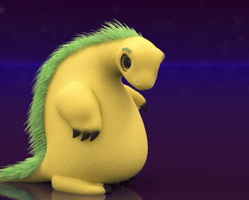 Zbrush Doodle: Day 2309 - Fluffy Critter