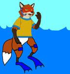 Fox in the Water by KodyBoy555