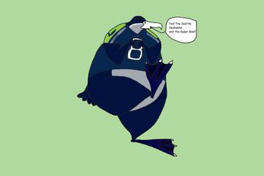 Victor the Seahawk is happy by KodyBoy555