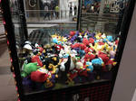 Angry Birds toys in the claw machine