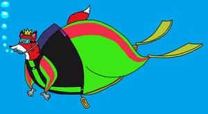 The Fox Prince scuba diving by KodyBoy555