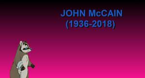 Badger is sad that John McCain has died by KodyBoy555