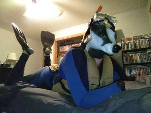 Me as a badger in scuba gear 2