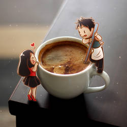 Love Starts From A Cup Of Coffee