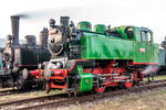 Two old steam Czechoslovak locomotives in museum