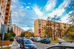 Colorful silent Slovak city district