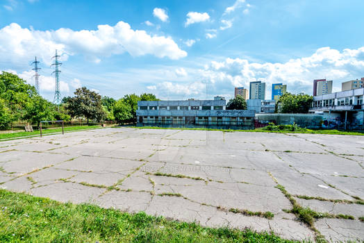 Abandoned Slovak school football field