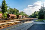 Calm czech railway station