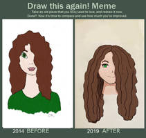 Draw This Again Self Portrait by Oliviaissweet