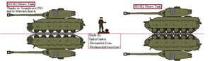 (ALT) M14E1, and M14E2 Heavy Tanks
