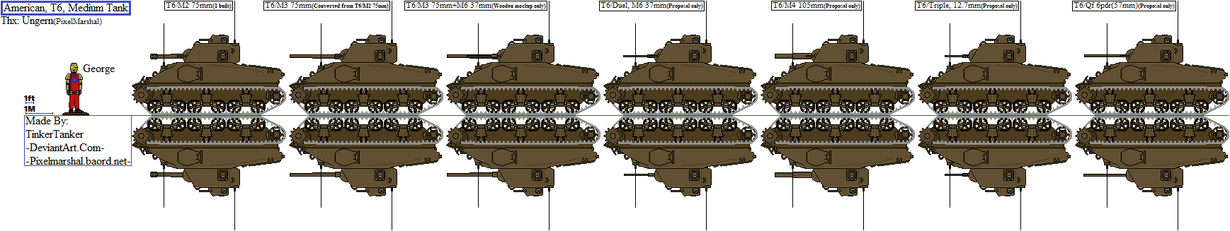 (HIST) American, T6, Medium Tank by TinkerTanker44432