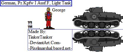 (HIST) German, Pz.Kpfw I Ausf.F, Light Tank by TinkerTanker44432